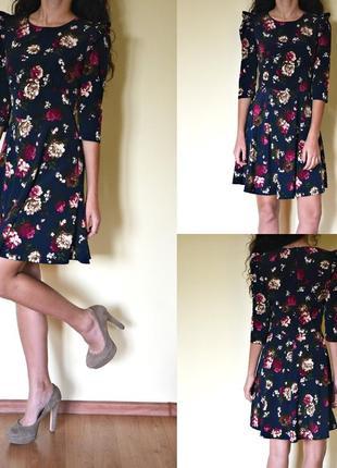 Розкішна сукня в квітковий принт )