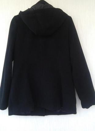 Черное пальто дафлкот atm3
