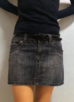 Джинсовая мини-юбка denim