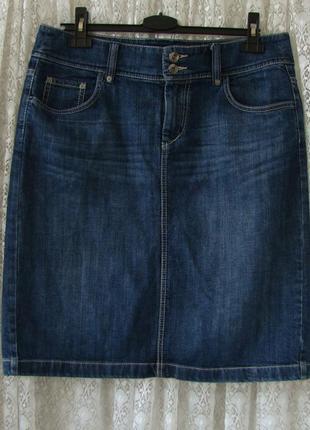 Юбка джинсовая прямая esprit р.50 №7240а