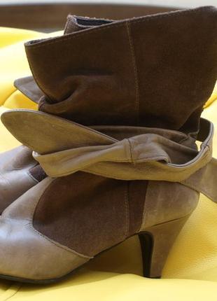 Сапоги tоpshоp натуральная кожа и замша внутри и снаружи, р-р 38, 24,5 см стопа