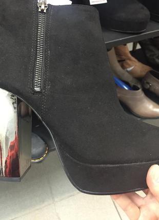 Ботильон на зеркальном каблуке
