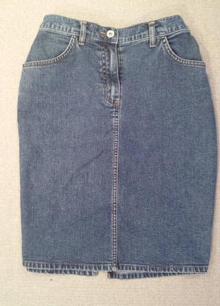 Джинсовая юбка прямого кроя