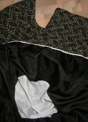 Пальто шерсть oversize marks & spencer per una (о скидке - в описании)5
