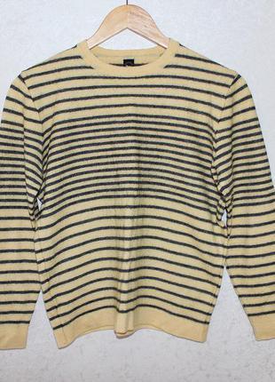 Желтый свитер folgore milano(натуральная шерсть)