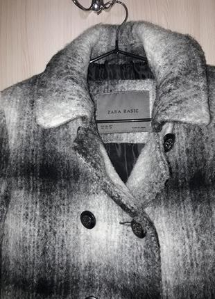 Пальто.  + loreal помада подарок. zara пальто классическое твид теплое . xs-s