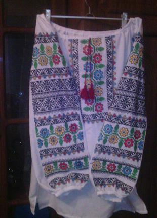 Вышиванка женская (машинная вышивка) борщевская вышивка