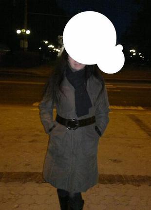Пальто на синтепоне с капюшоном еsprit