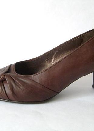 Шикарные комфортные туфли gabor кожа 39р ушир.стопа
