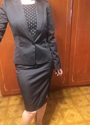 Костюм mango, размер s или 34-36, строгий, деловой, брючный, юбка, пиджак, офис