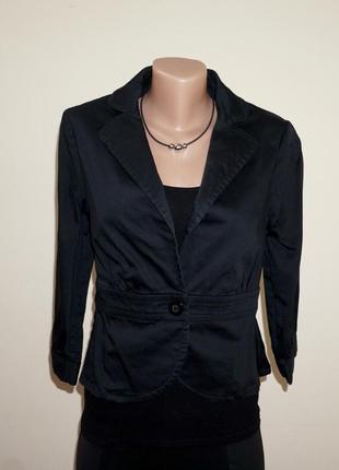 Жакет короткий пиджак приталенный по фигуре хлопок h&m размер s