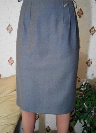 Классическая прямая юбка миди из шерсти basler s/m