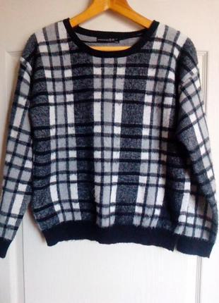 Теплый свитер оверсайз