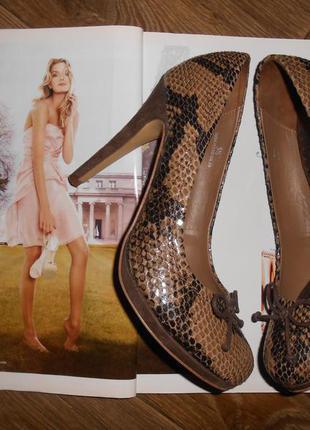Красивые туфли, змеиный принт, рептилия