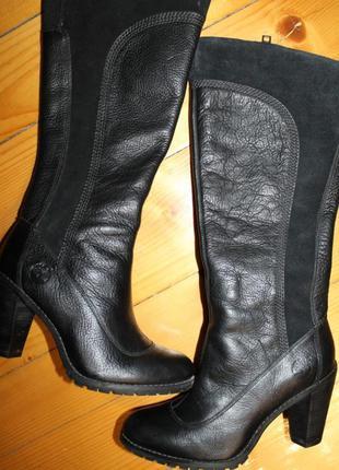 Завоз фирменной обуви, заходите. 39 разм. timberland добротная кожа высокие сапоги, вставки замша