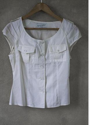 Блуза vilonna молочного цвета.