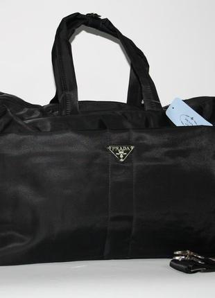 Дорожная, спортивная сумка  prada 3259 текстиль, ручная кладь