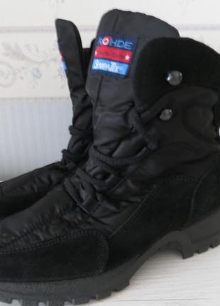 Отличные теплые водонепроницаемые ботинки с мембраной sympatex
