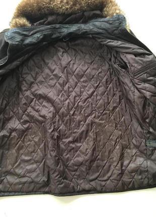 Зимняя натуральная кожа и мех курточка3