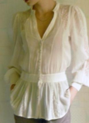 Шелковая блуза кремового цвета