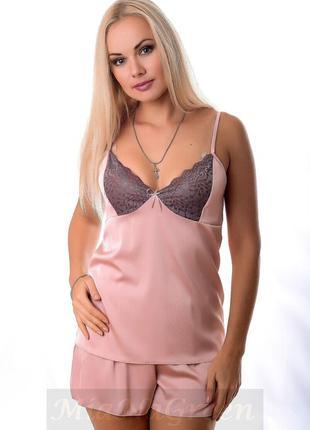 Пижама женская, цвет пудра пп01