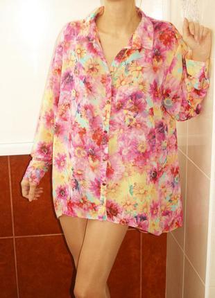 Чудесная шифоновая блуза цветочное лето