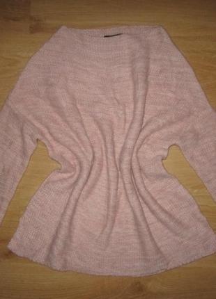 Брендовый теплый свитер 46 м