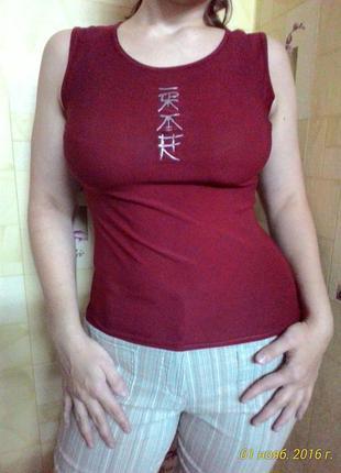 Фирменная моднявая стрейчевая майка маечка dress code (англия) размер м
