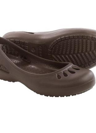 Балетки р. 7, 8, 9, 10 кроксы crocs malindi sling-back flats