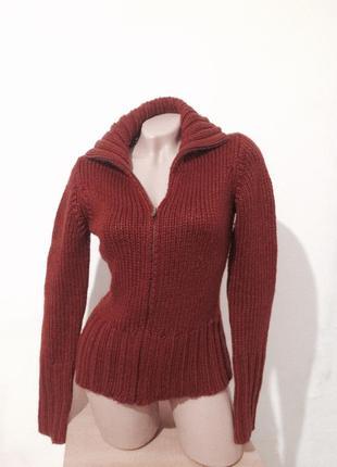 Теплый вязаный свитер шерсть. скидка10%на2вещи!)