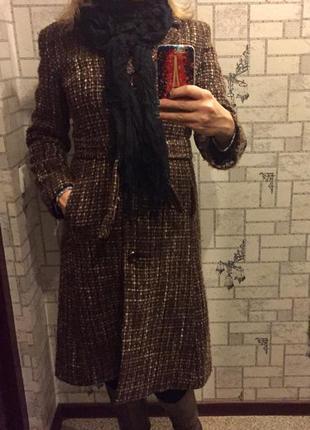 Драповое классическое пальто