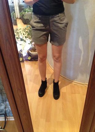 Шорты брючные /серые шорты
