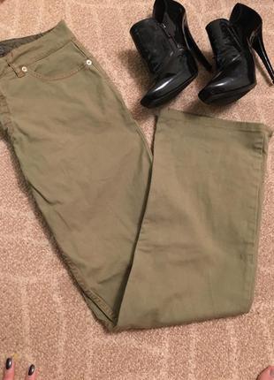 Зелёные штаны с вышивкой от etro оригинал бренд джинсы