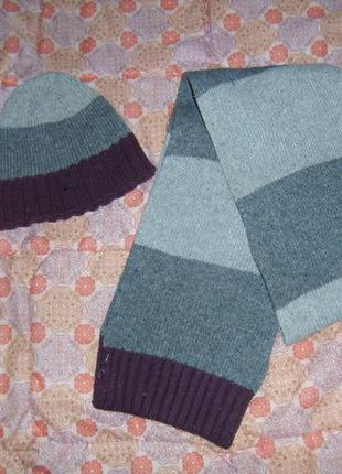 Набір шапка+шарф.унісекс.