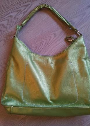 Стильная сумочка mascotte перламутрово-салатового цвета