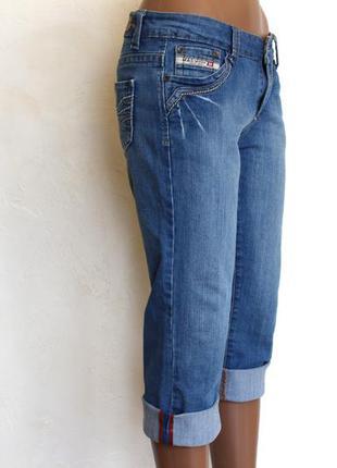 Стильные джинсовые бриджи,  доставка бесплатно. распродажа летнего в моей шафе.