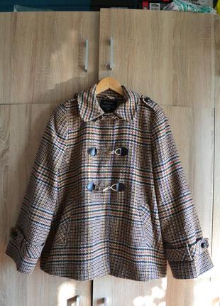 Клетчатое винтажное пальто дафлкот atmosphere