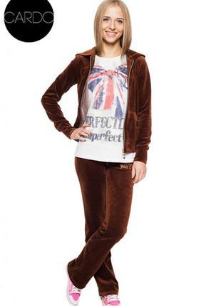 Мягенькие велюровые штаны шоколадного цвета  active 12-14