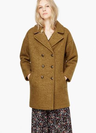 Пальто из шерсти mango. в продаже до 01.05