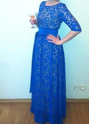 Шикарное вечернее кружевное платье andre tan