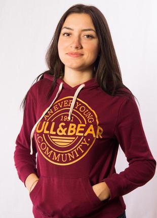 Олимпийка с капюшоном женская pull & bear (s)