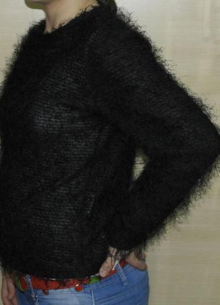 Crazy world брендовая кофточка  свитер реглан с ворсинками