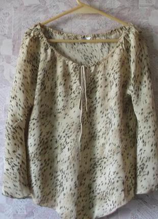 Свободная блуза из шифона