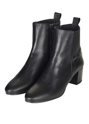 Ботильоны сапоги челси ботинки черные top shop новые кожа натуральная мода 2017