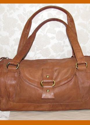 Вместительная сумка натуральная кожа люкс~asos~