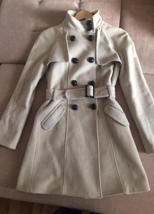 Классическое шерстяное пальто mango