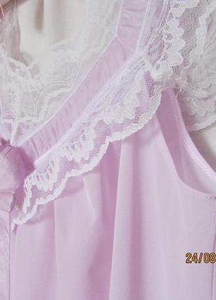 Нежная ночная рубашка от м до xхl сиреневого цвета большой размер