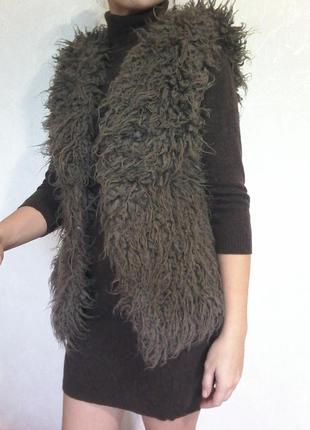 Искусственная меховая жилетка под мех ламы