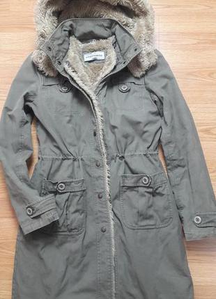 Очень теплая зимняя куртка,зимняя парка , зимнее пальто warehouse 111656