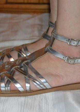 Босоніжки сандалі шкіряні george розмір 41 42, босоножки размер 41 42